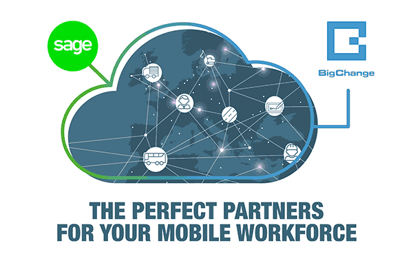 BigChange and Sage, the perfect partners for your mobile workforce.