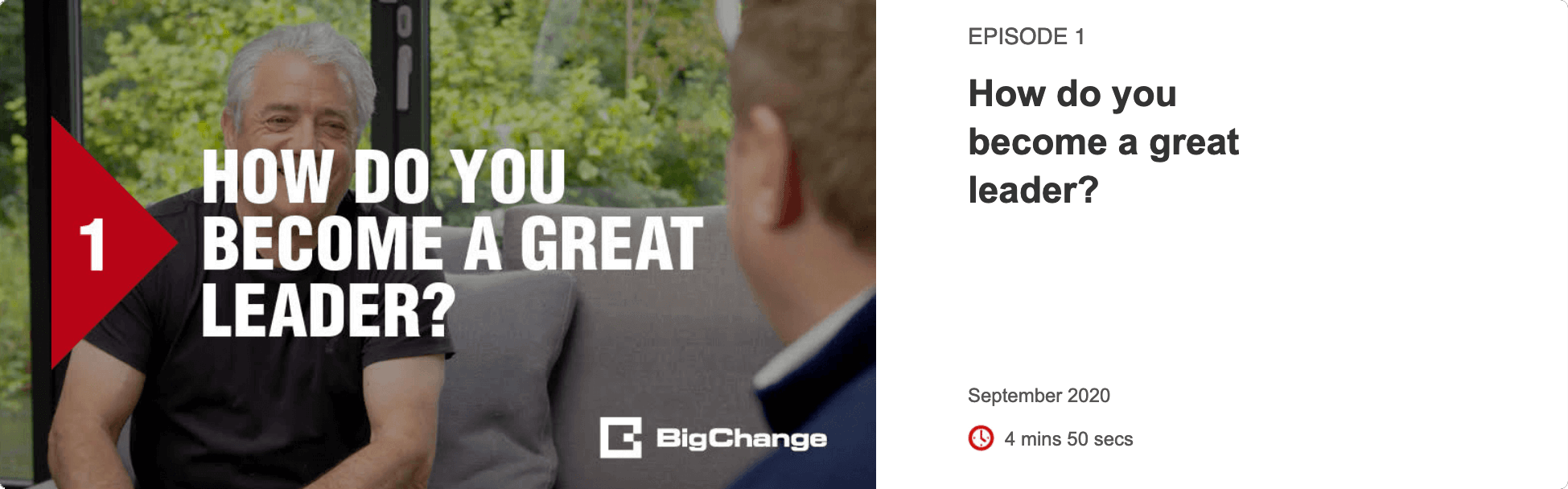 Episode 1 - How do you become a great leader?