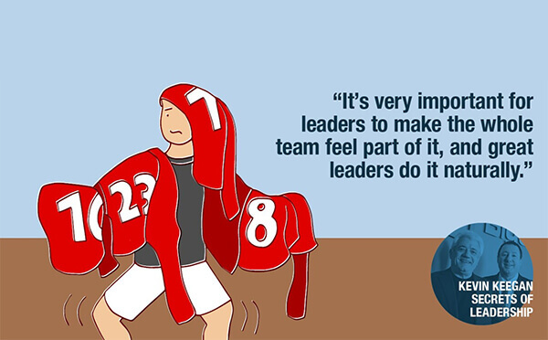 What two things define a great leader?